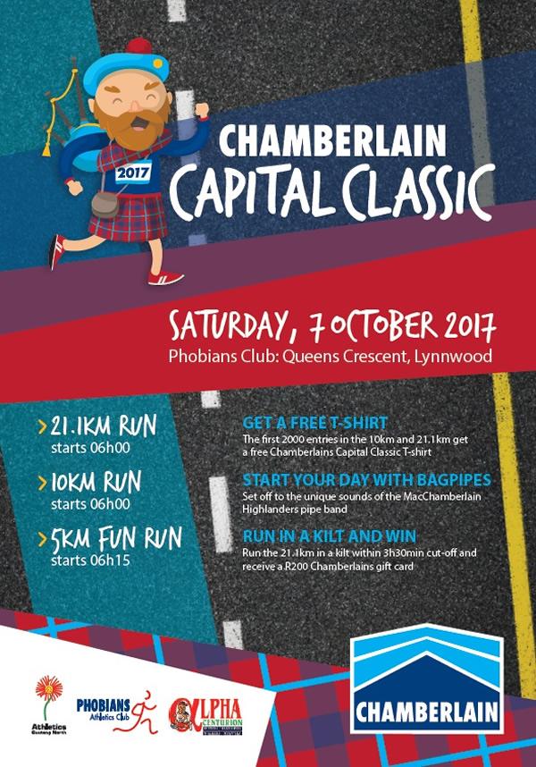 Chamberlain Capital Classic 21km, 10km, 5km @ Phobians Club, Lynnwood