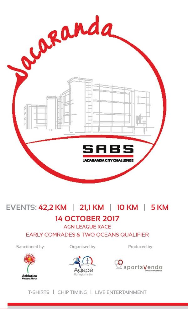 SABS Jacaranda City Challenge 42km, 21km, 10km, 5km @ SABS | Pretoria | Gauteng | South Africa
