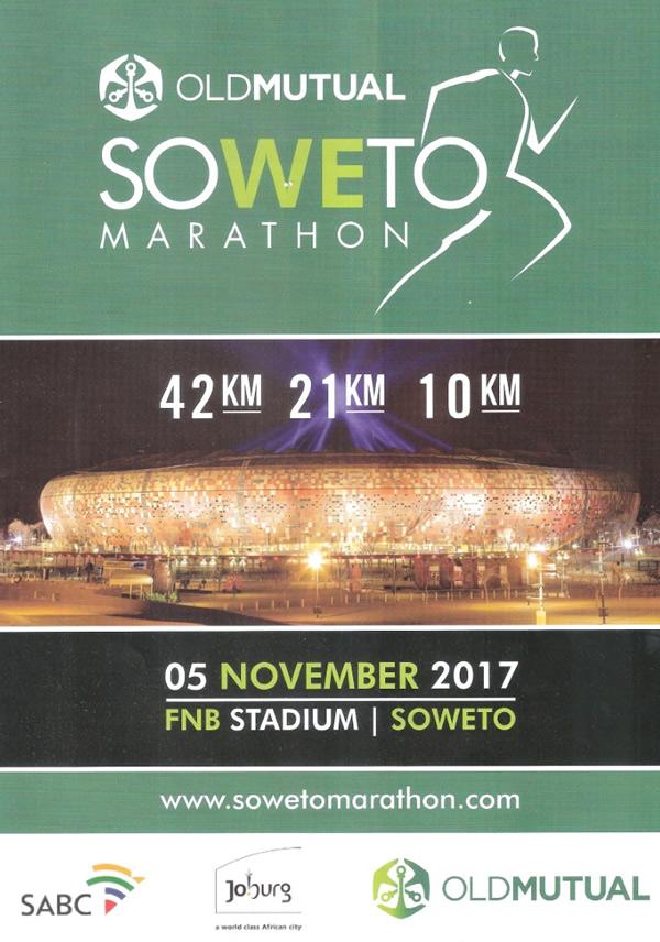 Old Mutual Soweto Marathon 42km, 21km, 10km @ FNB Stadium, Soweto