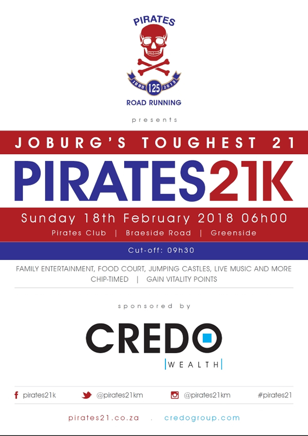 Pirates 21km @ Pirates Club, Braeside Road, Greenside